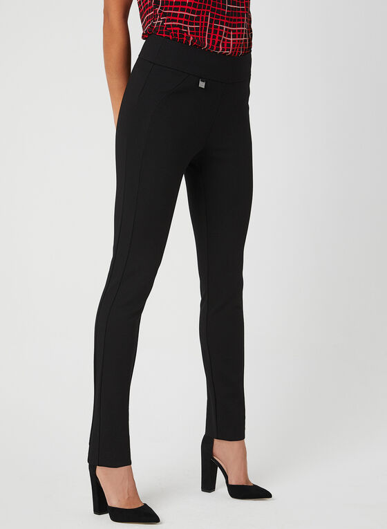 Simon Chang - Signature Fit Slim Leg Pants , Black, hi-res
