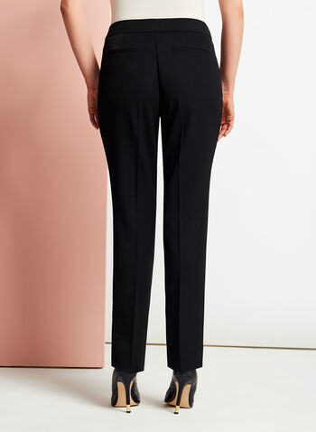 Bi-Stretch Slim Leg Pants, Black, hi-res