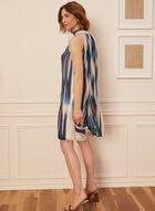 Abstract Print Sleeveless Dress, Blue