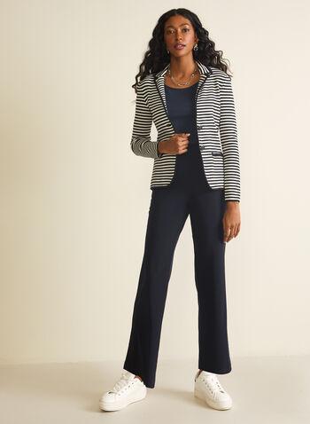 Veste rayée en tricot, Bleu,  rayures, motif, motifs, imprimé, imprimés, manches longues, printemps été 2020