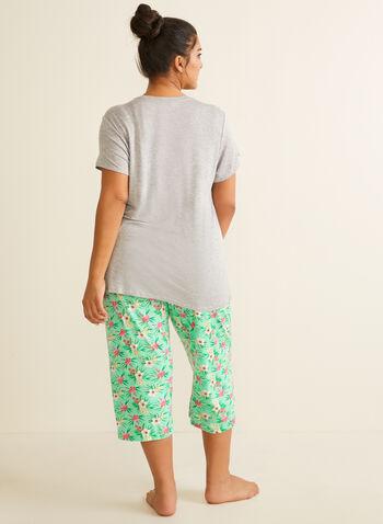 Pillow Talk - Capri Pyjama Set, Blue,  spring summer 2020, pyjama set, capris, tropical print