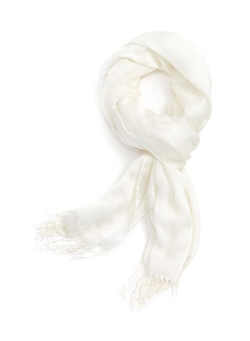 Foulards à franges, Blanc, hi-res