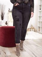 Joseph Ribkoff - Patchwork Detail Straight Leg Jeans, Grey