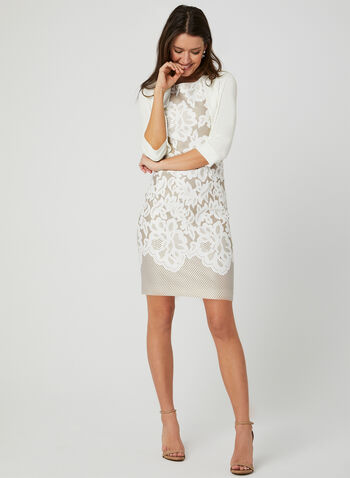 3/4 Sleeve Jersey Bolero, Off White, hi-res