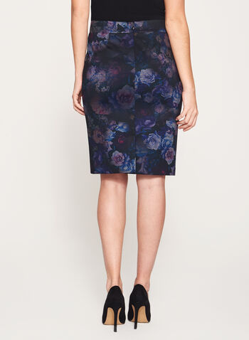 Floral Print Pencil Skirt, , hi-res