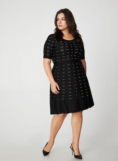 Fit & Flare Knit Dress