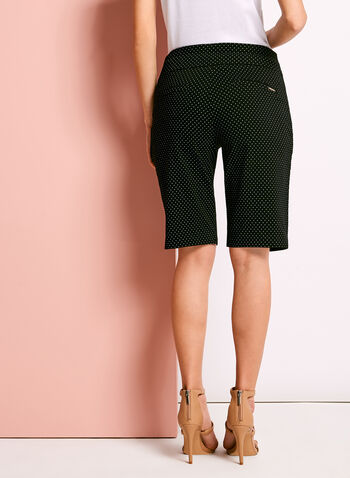 Simon Chang Dot Print Bermuda Shorts, Black, hi-res
