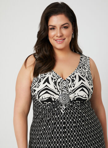 Tribal Print Maxi Dress, Black, hi-res,  jersey, metallic, long dress, spring 2019