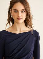 Draped Jersey Dress, Blue