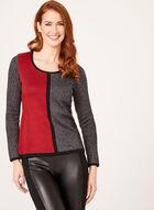 Pull en tricot à blocs de couleurs, Noir, hi-res