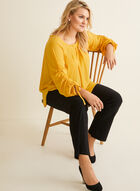 Joseph Ribkoff - Drawstring Sleeve Blouse, Yellow