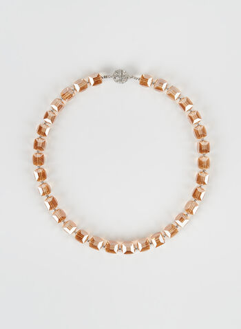 Crystal Choker Necklace, Off White, hi-res