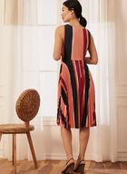 Tie Detail Striped Dress, Orange