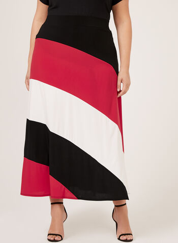 Colourblock Maxi Skirt, Black, hi-res