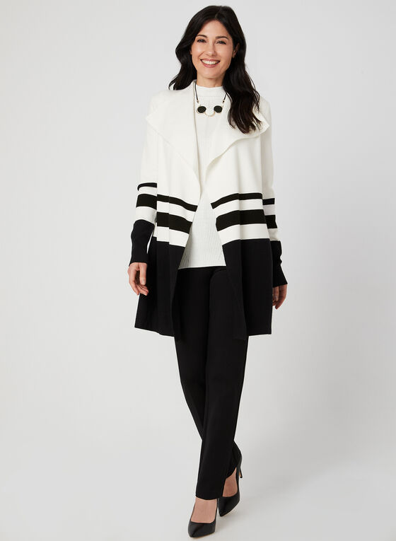 Open Front Cardigan, Black, hi-res