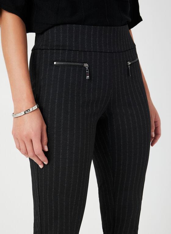 Pantalon rayé coupe cité, Noir, hi-res