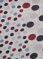 Dot Print Scarf, Grey, hi-res