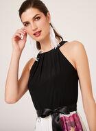 Floral Print Maxi Dress, Black, hi-res