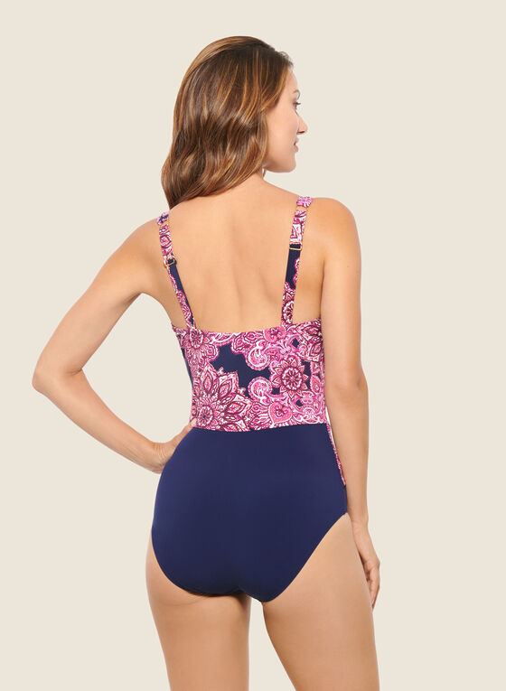 Christina - Mandala Print One-Piece Swimsuit, Pink