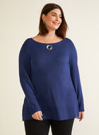 Knit Sweater With Tunic Fit, Blue