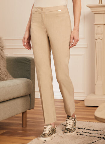 Modern Fit Straight Leg Pants, Off White,  pants, straight leg, modern fit, pleats, pockets, stretchy, spring summer 2020