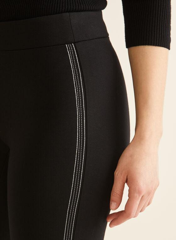 City Fit Contrast Stitch Pants, Black