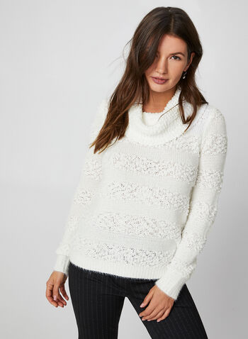 Cowl Neck Sweater, Off White, hi-res,  fall winter 2019, long sleeves, cowl neck, knit