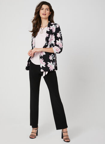 Floral Print Jacket, Black, hi-res