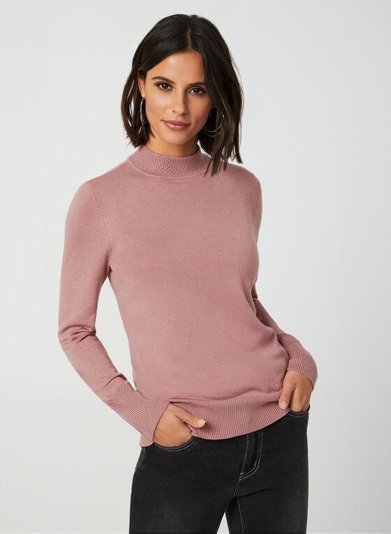Mock Neck Sweater, Purple