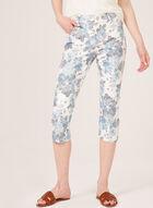 Simon Chang - Capri floral en denim, Blanc, hi-res