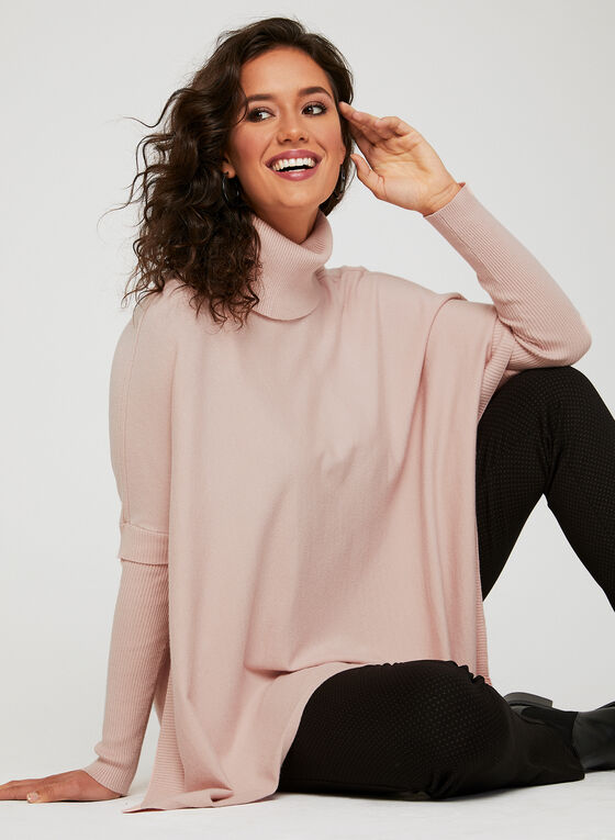 Charlie B - Knit Poncho Sweater, Pink, hi-res