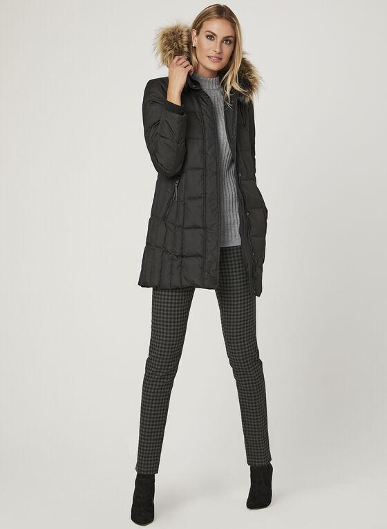 Novelti - Faux Fur Trim Quilted Down Coat, Black