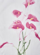 Calla Lily Print Oblong Scarf, Pink