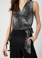 Geometric Print Jersey Jumpsuit, Black