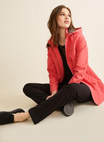 Novelti - Manteau à capuchon amovible, Orange,  manteau, demi-saison, zip, poches, capuchon, printemps été 2020