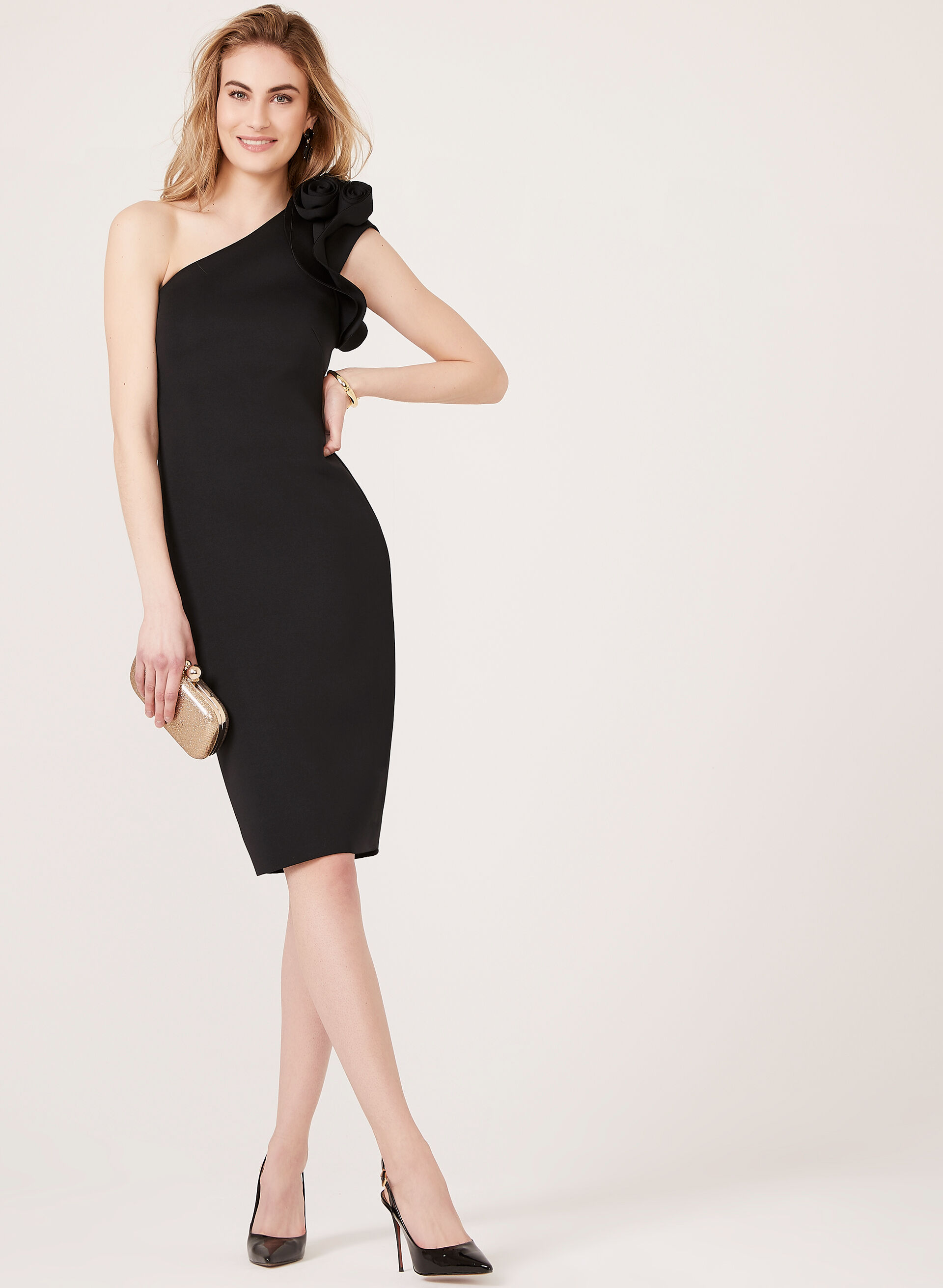 black dress cocktail dress