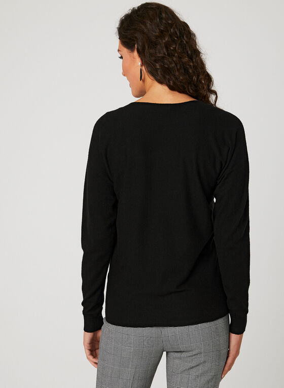 Charlie B - Pearl Embellished Sweater, Black, hi-res