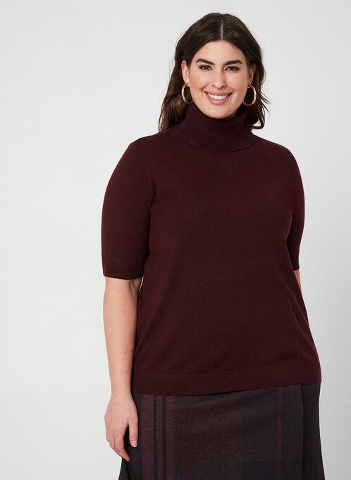 Wool Blend Sweater , Purple