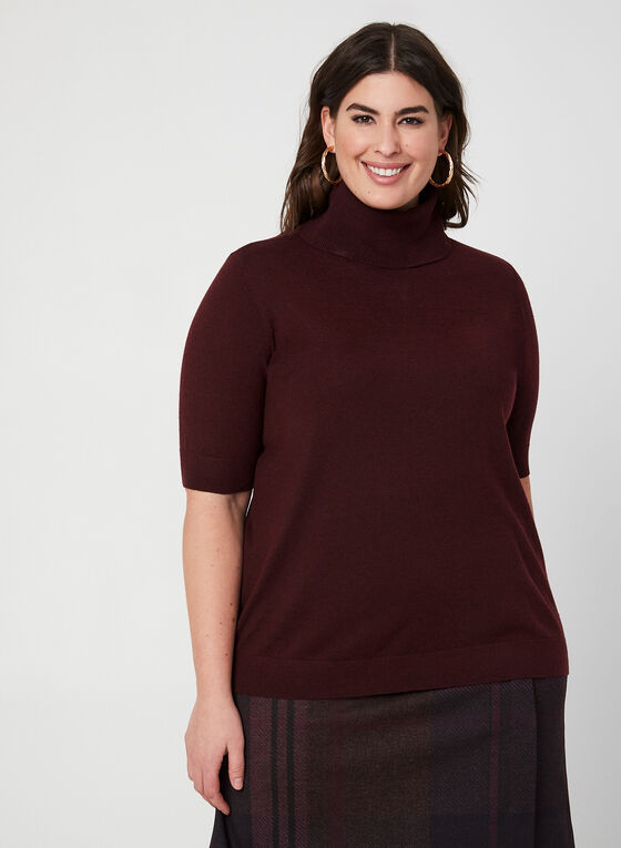Wool Blend Sweater , Purple, hi-res