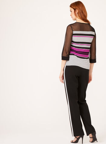 Illusion Sleeve Jersey Top , Multi, hi-res