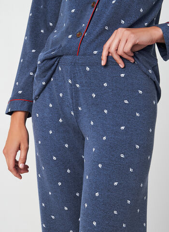 Claudel Lingerie - Pyjama Set, Blue, hi-res,  Claudel Lingerie, pyjama, sleepwear, fall 2019, winter 2019