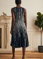 Floral Print Sleeveless Dress, Blue