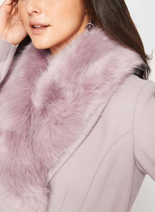 Ellabee - Structured Wool Like Coat, Pink, hi-res