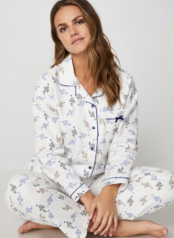 Karmilla Lingerie - Pyjama deux pièces à motif feuilles, Blanc