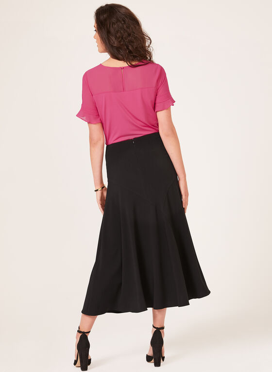 Flared Maxi Skirt, Black, hi-res