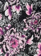 Large Floral Print Scarf, Purple