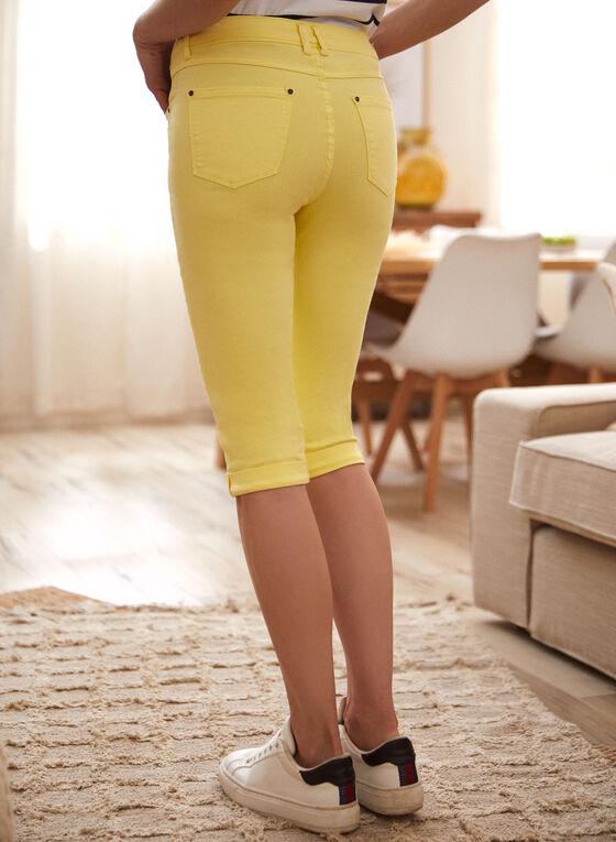 Charlie B - Cuffed Capri Pants, Yellow