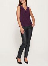 Heather Print Jersey Top, Purple, hi-res