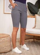 Dot Print Pull On Shorts, Blue
