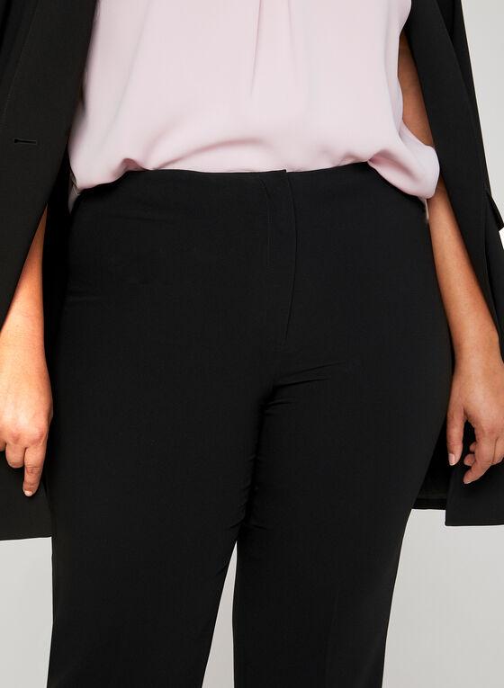 Louben - Pantalon coupe signature à jambe large, Noir, hi-res